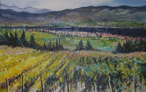 BC Wine Country - Painting - Impressionism
