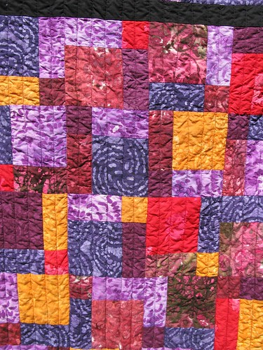 Dad's quilt, close up