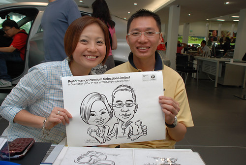 Caricature live sketching for Performance Premium Selection first year anniversary - day 4 - 18
