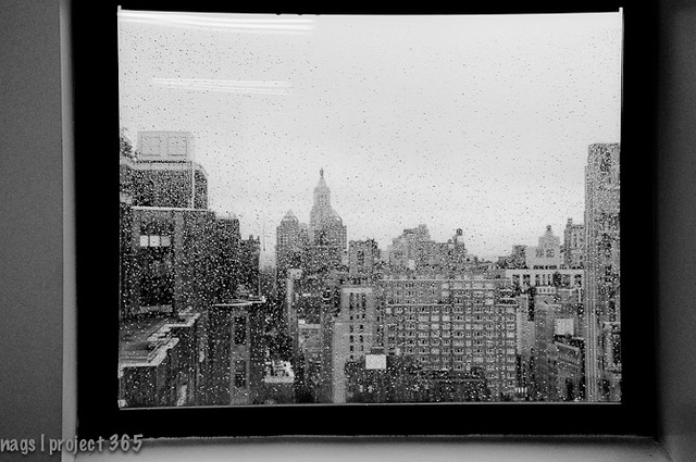 New York through a window