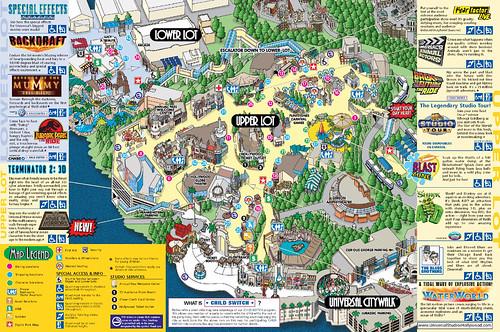 Los Angeles Map Universal Studios