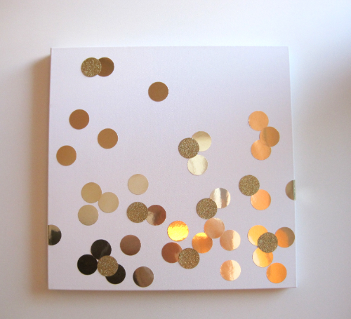 Gold Confetti DIY art