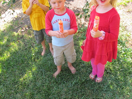 late summer popsicle party!