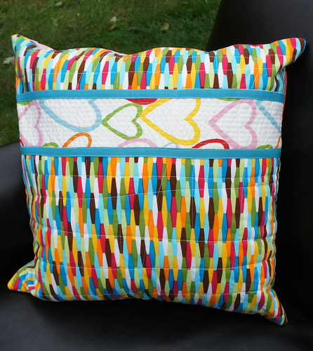 Rainbow Hexagon Pillow - Back detail