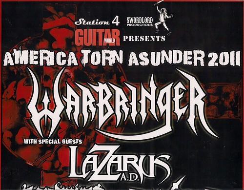 10-26-11 Warbringer/Lazarus AD/Landmine Marathon/Diamond Plate @ Station 4, St. Paul, MN (Top)