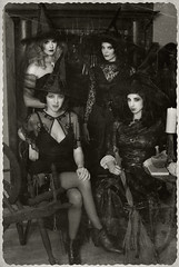 Witch House Portrait (Raquel Van Nice) Tags: portrait house halloween vintage dark skull oakland roommates witch goth witches coven bruja