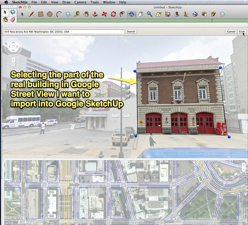 Google SketchUp - Import from Street View