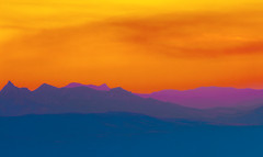 Another world aborning (Dmytro Tolokonov) Tags: blue autumn sunset red summer sky panorama orange sun sunlight abstract mountains nature beautiful silhouette clouds rural sunrise season landscape evening daylight spring fantastic skies view purple scenic ukraine hills valley ethereal unreal crimea cloudscape slopes otherworldly