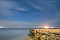 Magic pier (V.kryukova) Tags: longexposure nightphotography sea sky seascape night stars landscape nightimages wind blacksea 1022 startrails azov canon1022 southrussia