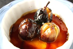 Fine Cooking's Roasted Figs with Caramel (www.suziethefoodie.com) Tags: autumn fall cooking with fine caramel figs roasted