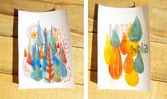 Hola! (RAMA ) Tags: hello color illustration hojas graphicdesign bosque bookbinding ilustracion hola cuadernos serigrafia encuadernacion personalcards tarjetaspersonales ramastudio ramataller ramacuadernos
