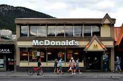 Banff McDonald's (pokoroto) Tags: autumn canada fall mcdonalds september alberta banff 9 2011   longmonth   kugatsu nagatsuki  23