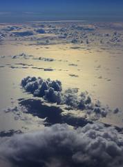 the shining light (Andrew C Wallace) Tags: light clouds airplane flight australia victoria tasmania shining bassstraight