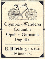 Olympia * Wanderer * Columbia * Opel * Germania * Populär Fahrräder (Werbeanzeige 1898) (_zebrakante_) Tags: bike bicycle vintage bikes columbia retro advertisement bicycles olympia fahrrad wanderer germania opel fahrräder 1898 vintagebicycle werbeanzeige populär