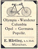 Olympia * Wanderer * Columbia * Opel * Germania * Populär Fahrräder (Werbeanzeige 1898) (_zebrakante_) Tags: bike bicycle vintage bikes columbia retro advertisement bicycles olympia fahrrad wanderer germania opel fahrräder 1898 vintagebicycle werbeanzeige populär