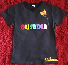 OUSADIA (Kaasf) Tags: nome patchwork letras borboletas estampa apliqueé camisetapatchcolagem