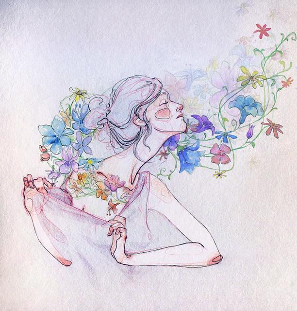 señorita y flora.