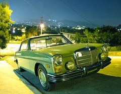 ... (mercedesmotoring) Tags: auto green classic car night vintage francis mercedes benz shot diesel low mercedesbenz miles chassis gasoline coupe 1973 jg pristine 2door 250c w114 mercedesmotoring mercedesmotoringcom