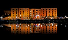 Albert Dock doubled (Shertila Tony) Tags: england sky black reflection weather night liverpool europe britain bubbles clear albertdock merseyside riversidefestival mygearandme musictomyeyeslevel1 flickrstruereflection1