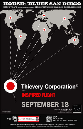 Show poster, iF with Thievery Corporation