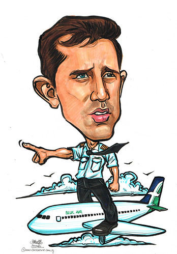 Silk Air captain caricature on A320