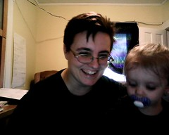 me & izzy on the webcam