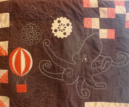 Steampunk Octopus Quilt Hot Air Balloon Version