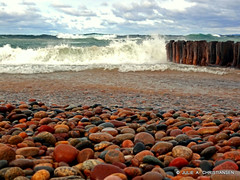Whitefish Point........ (smiles7) Tags: beach water rocks michigan lakesuperior whitefishpoint
