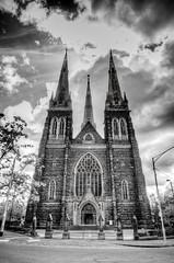 St Patricks Church Melbourne. (Ben Sugden) Tags: bw church blackwhite nikon australia melbourne stpatricks f28 hdr d7000 tokina1116 bensugden
