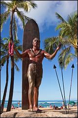 Duke Kahanamoku Statue Waikiki Beach (Greg Vaughn) Tags: ocean travel people statue vertical island hawaii islands memorial pacific oahu surfer famous scenic surfing surfboard hawaiian tropical honolulu waikikibeach tropics dukekahanamoku hawaiiana gregvaughn kuhiobeachpark 0310455