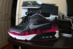 Nike Air Max 90 iD (Never Wear Them) Tags: pink white black max west grey am shoes air id nike spark 90 nikeid kanye am90 yeezy