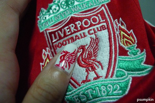 Liverpool Nail Art with Jersey 2