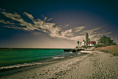 New Look for an Old Lighthouse {Explored!} (ShaneWyatt) Tags: lighthouse beach sand waves michigan lakemichigan uwa pointbetsie benziecounty eos40d shanewyatt