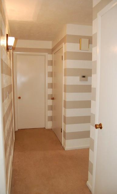 Stripe Painted Hallway