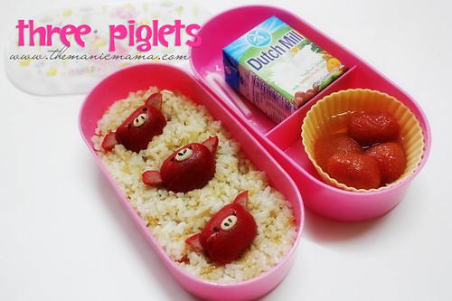 3 piglets
