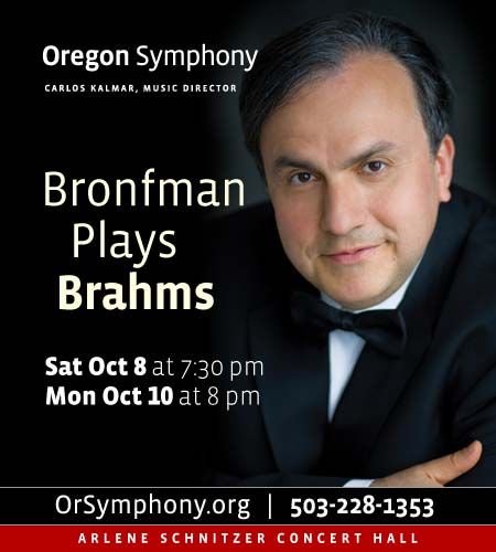 Bronfman Plays Brahms @ Oregon Symphony