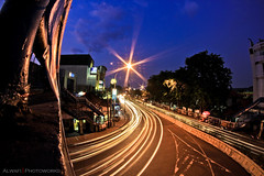 Life Still Running (Alwafi Auzan) Tags: blue speed canon indonesia eos slow ss hour tangerang samyang 550d