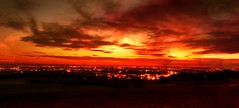 Sunset Over Horwich: Revisited (Gary Danton) Tags: sunset red panorama art saturated nikon december bolton prints 2009 horwich iphone d40 chorleyoldroad