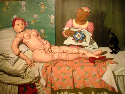 Vera Barnett 'Olympia' (after Edouard Manet), 1993 by hanneorla