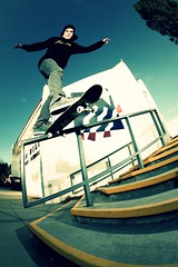 Jan Henrik (Daniel.Covarrubias) Tags: school stairs back globe skateboarding jan tail skating rail skate henrik