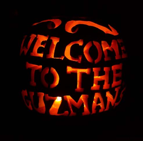 i carved this pumpkin because it welcomed our close family and friends to our home unlike last years invitations were i separated both of our names i - Names For A Halloween Party