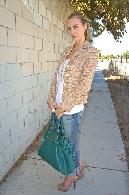 Tweed blazer outfit