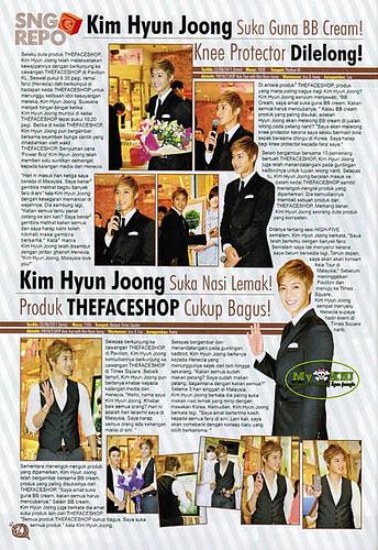 Kim Hyun Joong Epop Malaysian Magazine 201110 Issue