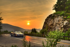 Sunset Drive [EXPLORE] (Moniza*) Tags: sunset mountain newyork car sunrise drive twilight nikon dusk bearmountain explore valley corvette d90 explored moniza searchthebestnew photog
