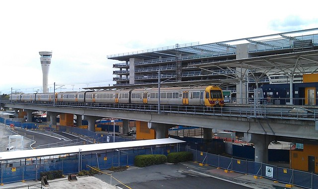 Brisbane AirTrain at the Domestic Terminal