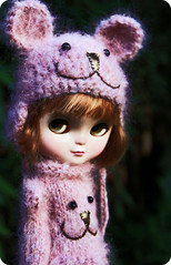 "A little ""Icy"" (jillybug ~) Tags: bear pink doll sweet shy polly icy britt stockdoll"