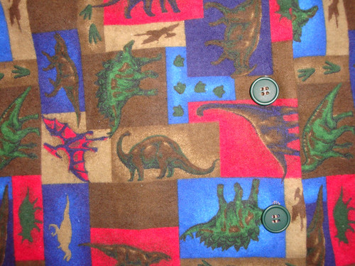 Closeup of Flannel Shirt Fabric