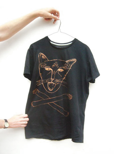 the cat tshirt I made for my bro
