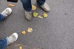 Hey, look, it's getting fall! (Time.Captured.) Tags: autumn london fall feet leaves leaf shoes herbst blatt schuhe blatter fusse