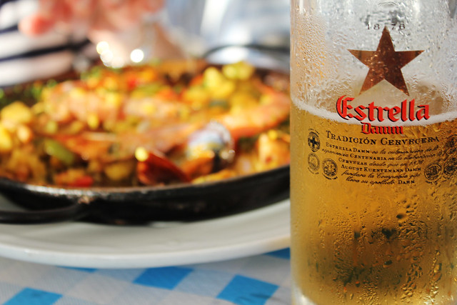 cerveca y paella